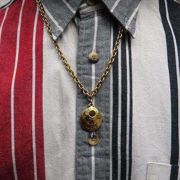 CÉLINE/セリーヌ 3連ロゴゴールドネックレス 90年代 (USED)