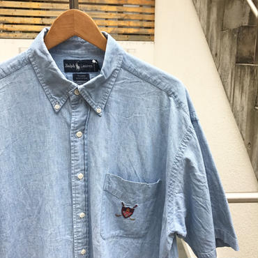 Polo Ralph Lauren /ポロラルフローレン 半袖ボタンダウンシャツ 90年前後 (USED)