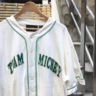 DISNEY ORIGINALS/ディズニーオリジナルズ TEAM MICKEY ベースボールシャツ  90年代 (USED)