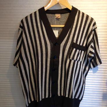 Cardean SPORTSWEAR Short Sleeve Cardigan(DEADSTOCK)