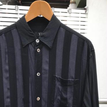 Y's/ワイズ ストライプレーヨンシャツ 90年代 Made In JAPAN (USED)