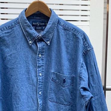 PoloRalphLauren/ポロラルフローレン デニムボタンダウンシャツ 90年代 (USED)