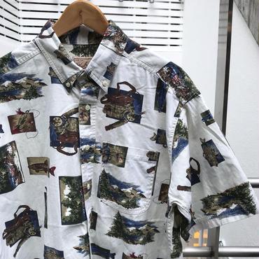 WOOLRICH/ウールリッチ フィッシュ柄 半袖シャツ 90年代 (USED)