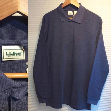 LL BEAN/エルエルビーン 長袖ポロシャツ 90's Made In USA (DEADSTOCK)