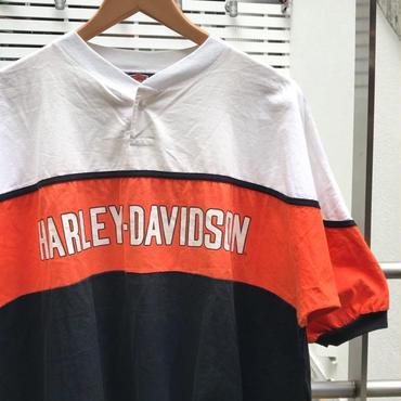 HARLEY DAVIDSON/ハーレーダビッドソン ヘンリーネックシャツ 90年代 (USED)
