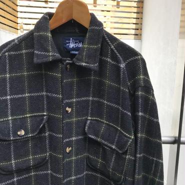 STUSSY/ステューシー チェックシャツジャケット 90年代  (USED)