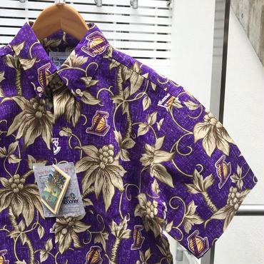 REYN SPOONER x LAKERS/レインスプーナーxレイカーズ  コットンボタンダウンシャツ 2000年代 (DEADSTOCK)