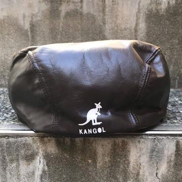 KANGOL/カンゴール レザーハンチング  90年代 Made In USA (USED)