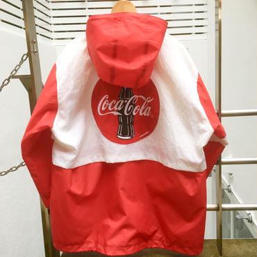 COCA-COLA/コカコーラ ナイロンフードジャケット  90年前後 (USED)
