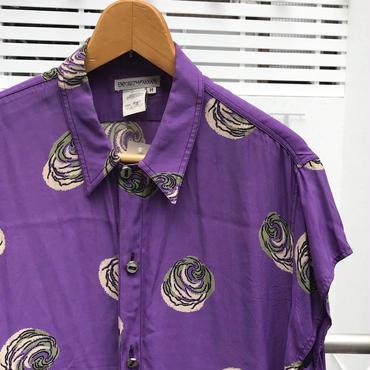 EMPORIO ARMANI/エンポリオアルマーニ ショートスリーブレーヨンシャツ 90年代 Made In ITALY (USED)