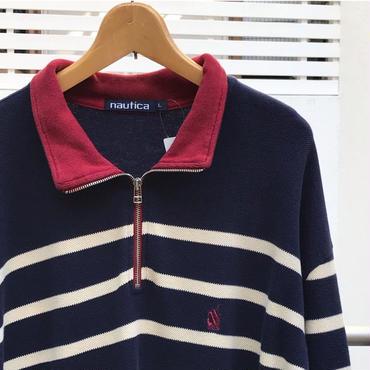 NAUTICA/ノーチカ ハーフジップロングスリーブポロシャツ 90年代 (USED)
