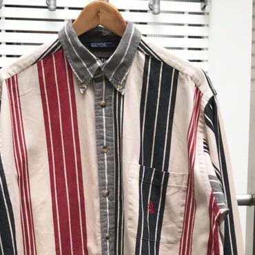 NAUTICA/ノーチカ ボタンダウンストライプシャツ 90年代 (USED)