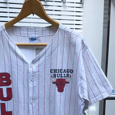 SALEM CHICAGO BULLS/セーラム シカゴブルズ 天竺ベースボールシャツ 91年 Made In USA (USED)