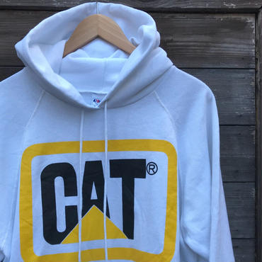 CAT/キャタピラー フードスウェット 90年前後 Made In USA(USED)