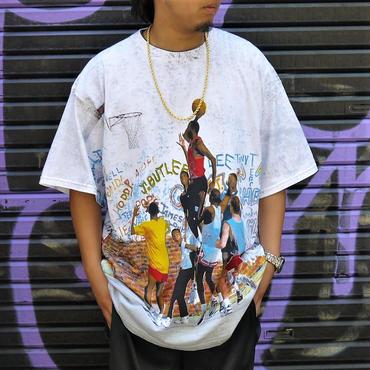 NIKE/ナイキ JORDAN 総柄Tシャツ 90年代 Made In USA (DEADSTOCK)