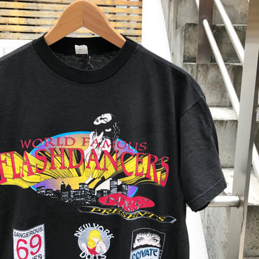 WORLD FAMOUS FLASH DANCERS/ワールドフェイマスフラッシュダンサーズ Tシャツ 90年前後 Made In USA (USED)