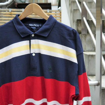 NAUTICA/ノーチカ ロングスリーブポロシャツ 90年代 (USED)