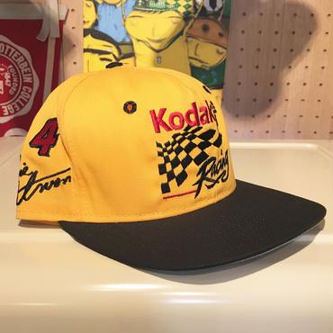 KODAK FILM RACING/コダックフィルムレーシング NASCAR キャップ  2000年前後 Made In USA (USED)