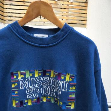 MISSONI SPORTS/ミッソーニスポーツ ロゴスウェット 90年代  (USED)