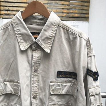KARL KANI KAHKIS/カールカナイカーキス シャツジャケット 90年代  (USED)