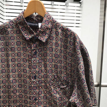UNKNOWN/ブランド不明 総柄デザイン シルクシャツ 90年代 (USED)