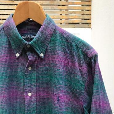 PoloRalphLauren/ポロラルフローレン ボタンダウンチェックシャツ 90年代 (USED)