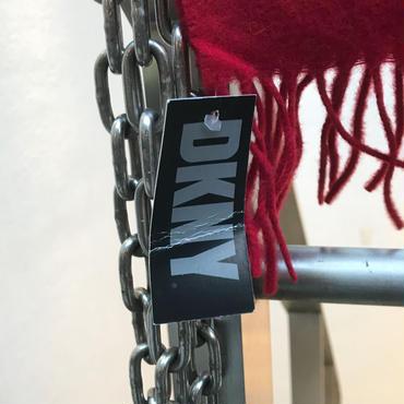 DKNY/ダナキャランニューヨーク ウールマフラー 90年代 Made In SCOTLAND (DEADSTOCK)