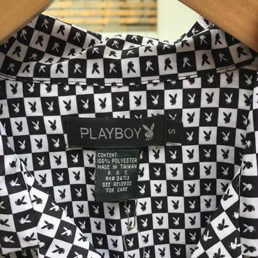 PLAYBOY/プレイボーイ 総柄半袖シャツ 2000年前後 (USED)