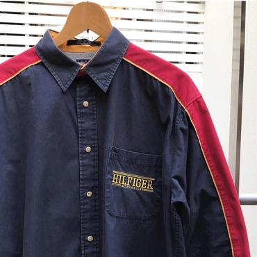 TOMMY HILFIGER/トミーヒルフィガー 切り替えシャツ 90年代 (USED)