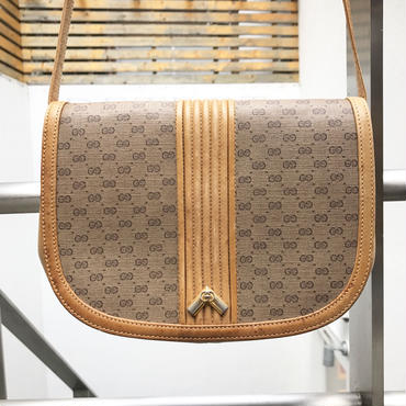 GUCCI/グッチ GG柄 スモール ショルダーバッグ 90年前後 Made In ITALY (USED)