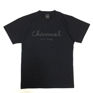 Logo Tee・Black/Chacoal Grey     ¥4200(税抜)