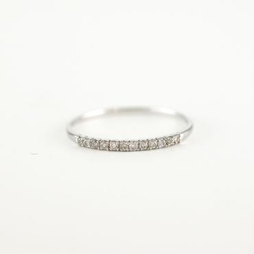 K18 ホワイトゴールド ダイアモンド エタニティ リング