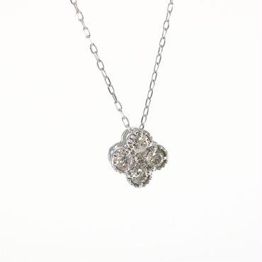 K18 ホワイトゴールド ダイアモンド ミルグレン ペンダント ネックレス
