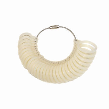 指輪のサイズが測れる!プラスチック製サイズゲージ 日本サイズ1~30号