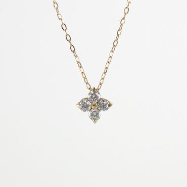 K18 イエローゴールド ダイアモンド ペンダント ネックレス
