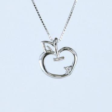 K10 ホワイトゴールド ダイアモンド アップル ネックレス