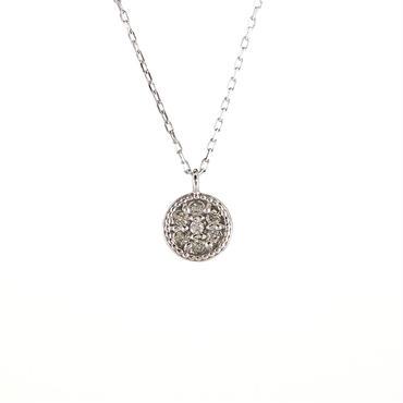 K18 ホワイトゴールド ダイアモンド  ペンダント ネックレス