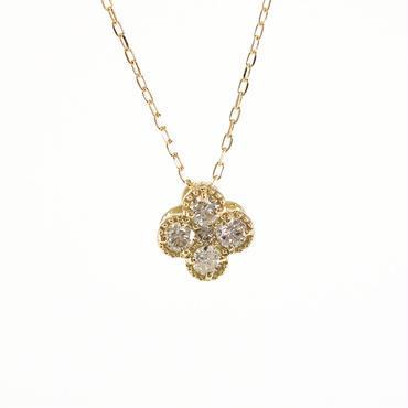 K18 イエローゴールド ダイアモンド ミルグレン ペンダント ネックレス