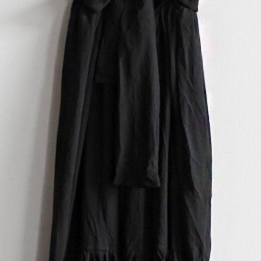 レディース 海外 インポート ブラック コットン 背中 あき マキシ ワンピース ドレス ロング 黒