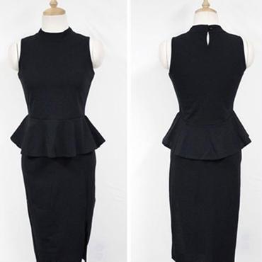 レディース 海外 インポート ぺプラム トップス スカート セットアップ ワンピース ドレス