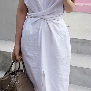 レディース 海外 インポート ホワイト コットン デザイン シンプル ワンピース ドレス 白