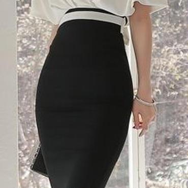 レディース 海外 インポート ホワイト ブラック カシュクール デザイン ミディ 膝 下 丈 ワンピース ドレス