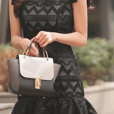 レディース 海外 インポート ブラック フリル プリーツ ワンピース ドレス ミニ 黒