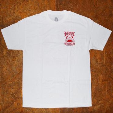 HAVOC HAWAII CLOTHING   Shark T-shirts   ホワイト/レッド