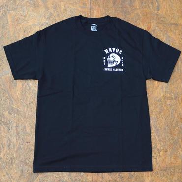 HAVOC HAWAII CLOTHING    スカルT-shirts ブラック/ホワイト