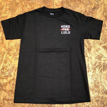 BLACK LABEL  HI   HONO FKN LULU T-shirts ブラック/ホワイト