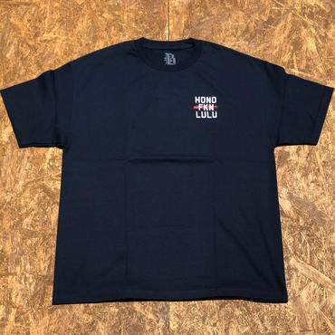 BLACK LABEL  HI   HONO FKN LULU T-shirts ネイビー/ホワイト