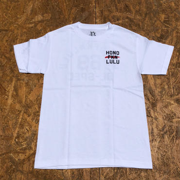 BLACK LABEL  HI   HONO FKN LULU T-shirts ホワイト/ブラック