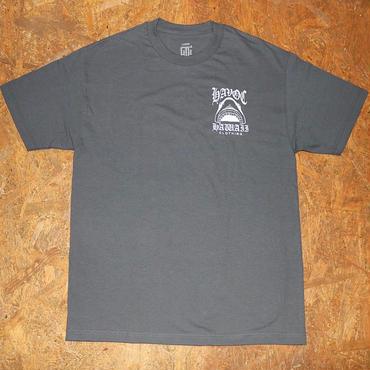 HAVOC HAWAII CLOTHING     SHARK   Tshirts  グレー/ホワイト