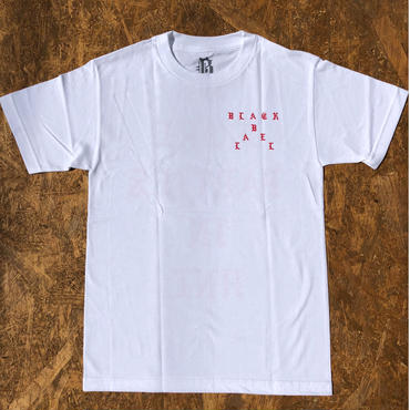 BLACK LABEL  HI    NO MORE PARTIES IN HNL T-shirts ホワイト/レッド